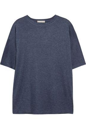 Vince Woman MÉlange Stretch-jersey T-shirt Navy