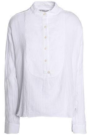 Derek Lam 10 Crosby Woman Cotton-gauze Shirt White