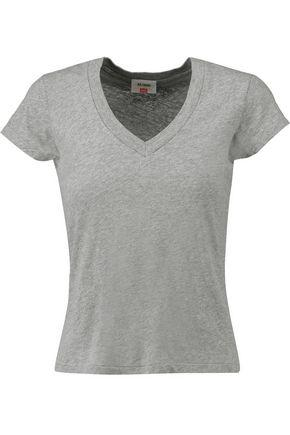 Re/done Woman + Hanes 1960s Cotton-jersey T-shirt Gray
