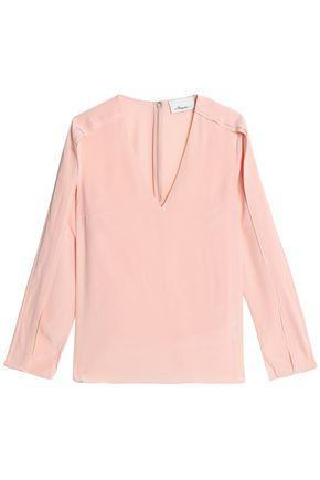 3.1 Phillip Lim Woman Silk-crepe Top Baby Pink
