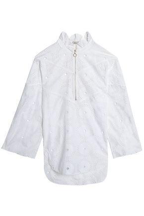 Nina Ricci Woman Broderie Anglaise Cotton Blouse White