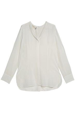 Marni Woman Silk-crepe De Chine Shirt White