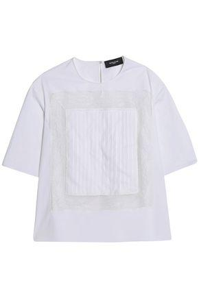 Rochas Woman Lace-trimmed Jersey Top White