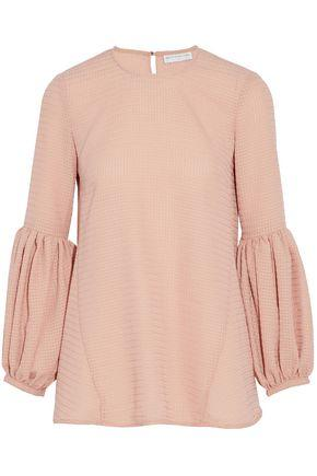 Rebecca Vallance Woman Gathered Jacquard Top Baby Pink