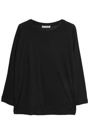Vince Woman MÉlange Stretch-jersey T-shirt Black