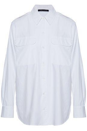 Rag & Bone Woman Poplin Shirt White
