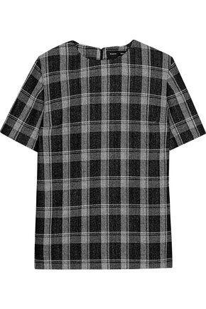 Proenza Schouler Woman Checked Wool-blend Jacquard T-shirt Black