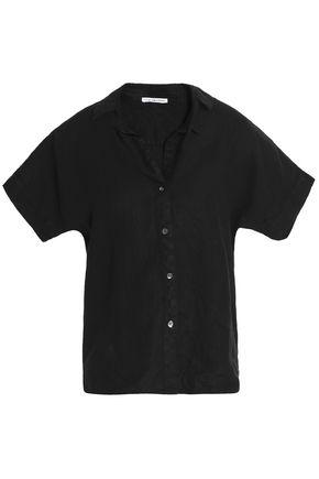 James Perse Linen Shirt In Black