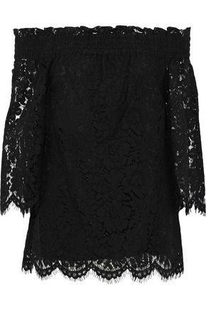 Rachel Zoe Woman Brody Off-the-shoulder Corded Lace Top Black