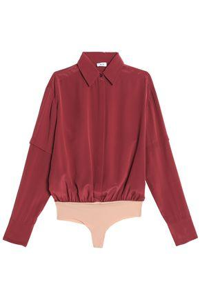 Alix Woman Silk Bodysuit Merlot