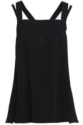 Helmut Lang Woman Cutout Crepe Top Black