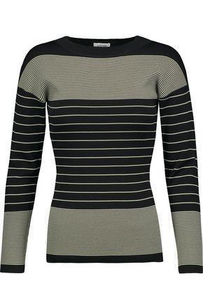 TotÊme Woman Rauris Striped Stretch-knit Sweater Black