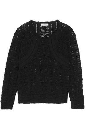 Iro Woman Cotton-blend Corded Lace Top Black