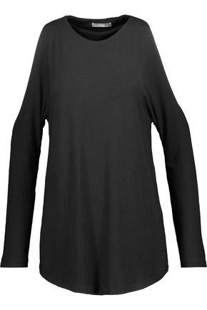 Tart Collections Woman Giza Cold-shoulder Stretch-modal Top Black