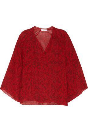 Iro Woman Aga Printed Chiffon Top Red
