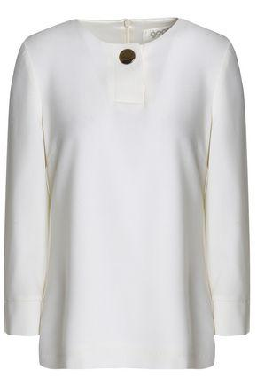 Goat Woman Button-detailed Wool Top Ivory