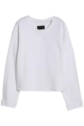 Rta Woman Cotton-terry Sweatshirt White