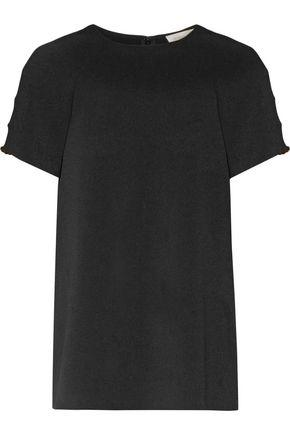 Zimmermann Woman Cutout Embellished Crepe Top Black