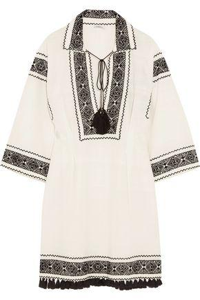 Talitha Woman Embroidered Cotton Tunic White