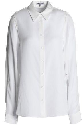 Opening Ceremony Woman Paneled Twill Shirt White