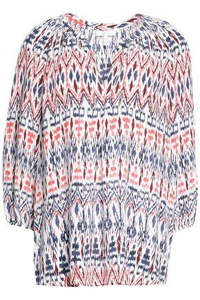 Joie Woman Printed Silk Crepe De Chine Top Red