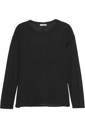 Vince Woman Modal-blend Jersey Top Black