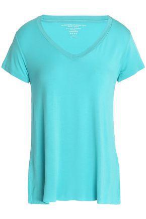 Majestic Woman Stretch-jersey T-shirt Turquoise