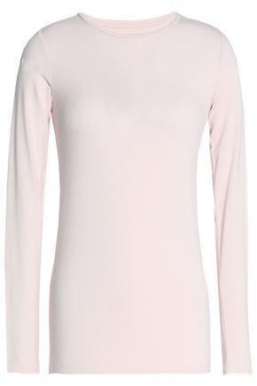Majestic Woman Stretch-jersey Top Pastel Pink
