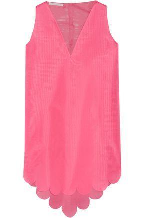 Antonio Berardi Woman Asymmetric Silk-gauze Top Bubblegum