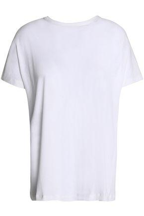Proenza Schouler Woman Tie-back Grosgrain-trimmed Cotton-jersey Top White