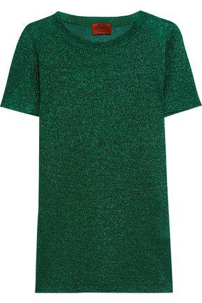 Missoni Metallic Knitted Top In Forest Green