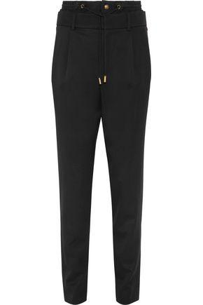 Saint Laurent Wool Straight-leg Pants In Black