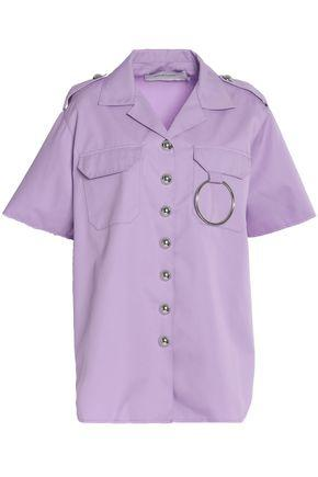 Marques' Almeida Woman Ring-embellished Cotton-twill Shirt Lilac