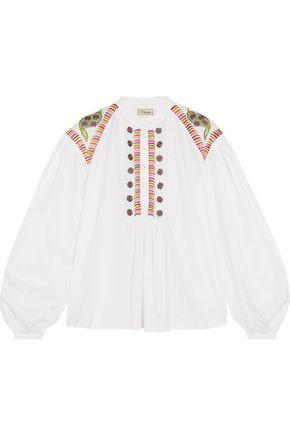 Temperley London Woman Fable Embroidered Cotton Blouse White