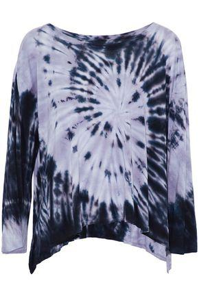 Enza Costa Woman Draped Tie-dye Jersey Top Lilac