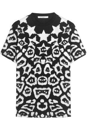 Givenchy Woman T-shirt In Printed Cotton-jersey Black