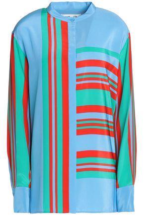 Diane Von Furstenberg Woman Printed Silk Blouse Azure