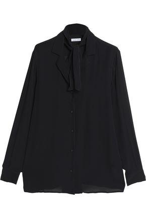 Tomas Maier Woman Pussy-bow Silk Blouse Black