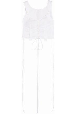 ChloÉ Cropped Cotton-voile Top In White