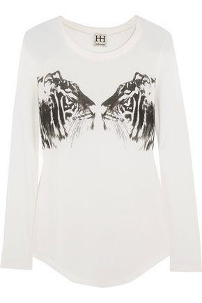 Haute Hippie Woman Printed Modal-jersey T-shirt White