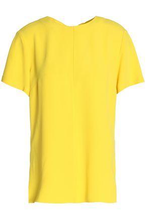 Proenza Schouler Woman Tie-back Crepe Top Yellow