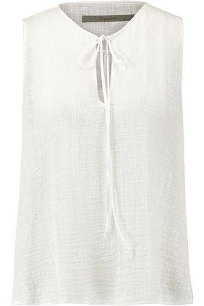 Enza Costa Woman Cotton-gauze Top White