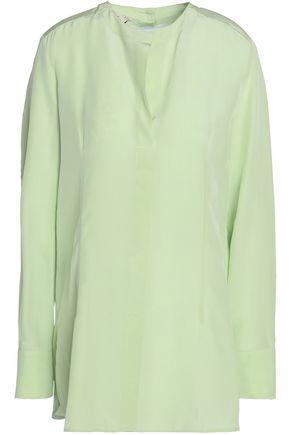 Marni Woman Silk-crepe De Chine Shirt Light Green