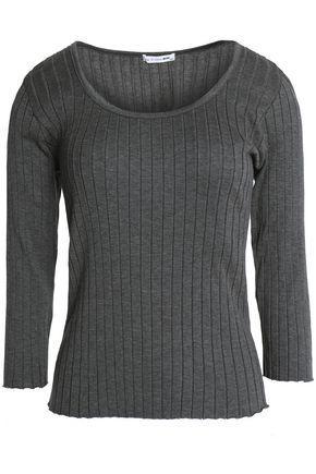 Rag & Bone Woman Cotton-jersey Top Gray
