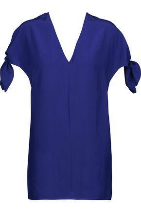 Emilio Pucci Woman Silk-satin Top Blue