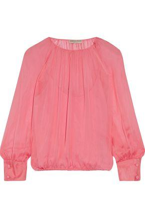 Emilio Pucci Gathered Silk Blouse In Pink