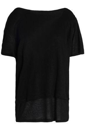 Iro Woman Draped Knitted Top Black