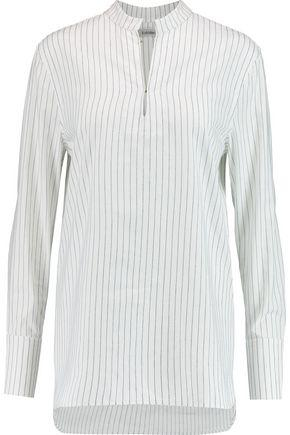 TotÊme Woman Cairo Striped Cotton And Linen-blend Shirt White
