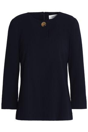 Goat Woman Button-detailed Wool Top Black