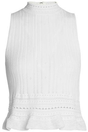 3.1 Phillip Lim Woman Pointelle-knit Top White